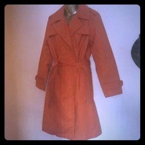 Liz Claiborne Orange trench coat